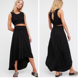Free People Morningside Set Black Skirt Top Small